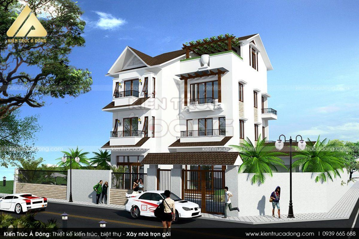 Mẫu thiết kế nhà biệt thự hiện đại 3 tầng đẹp