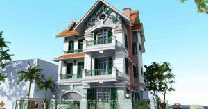 Hỏi mẫu thiết kế kiến trúc biệt thự hiện đại 3 tầng 200m2 đẹp?